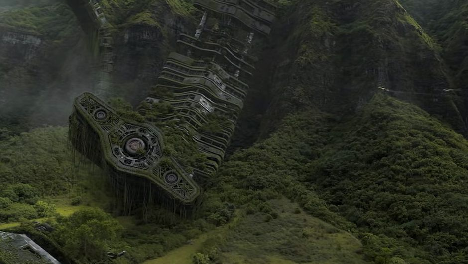 picture showing ruins and jungle
