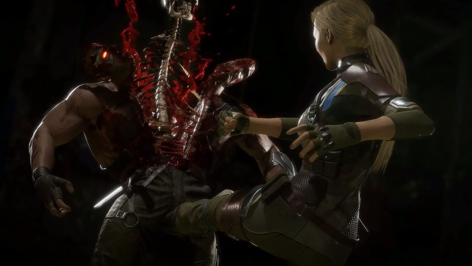 Picture of Cassie Cage ruining Kano's chances to have any children