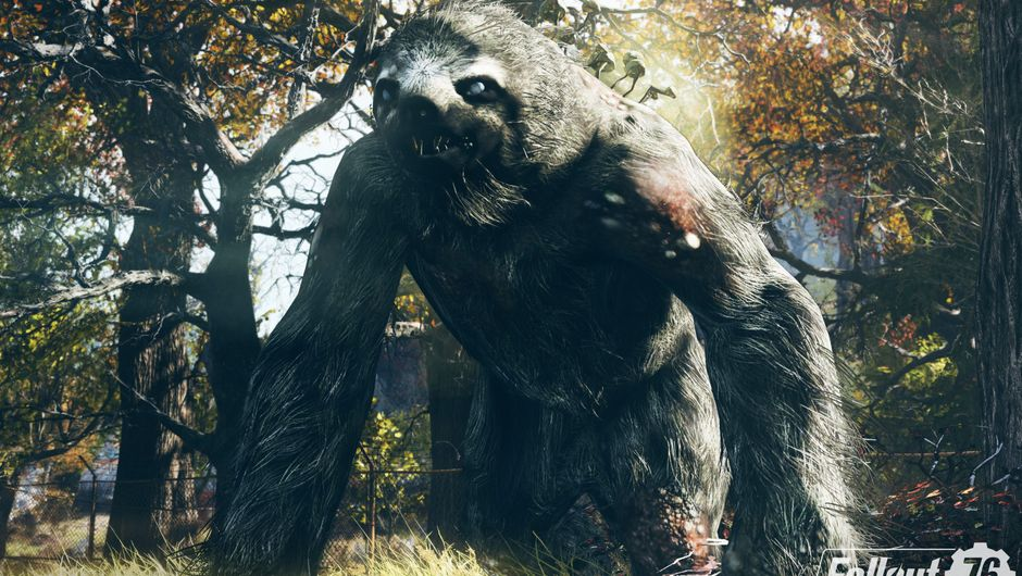 Picture of a massive sloth-like monster in Fallout 76
