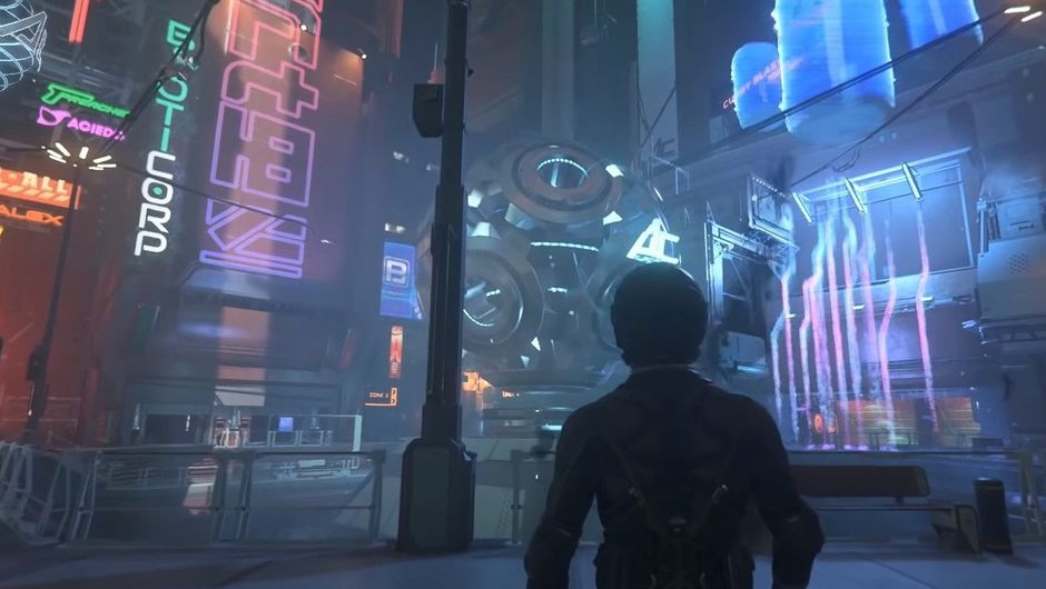 Picture of Area 18 city in Star Citizen
