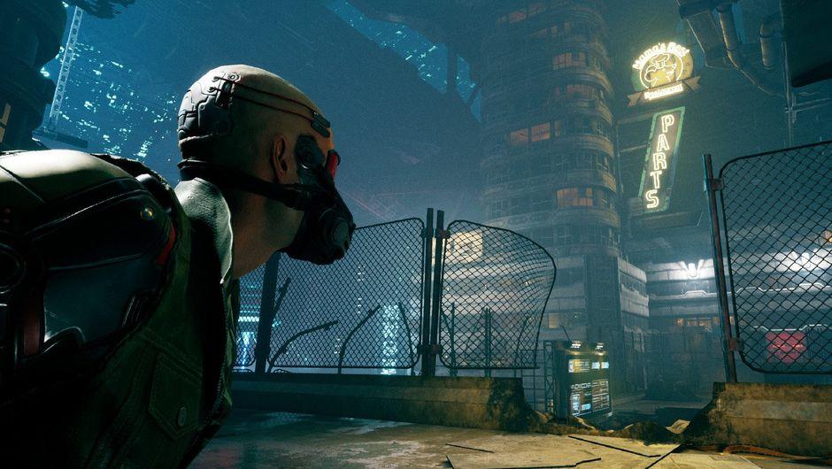 Promotional screenshot for Ghostrunner