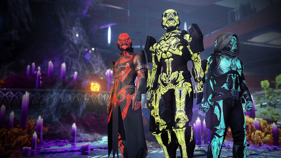 Armour decorations in Destiny 2's Halloween event