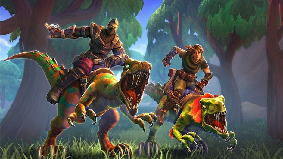 picture showing two characters riding dinos