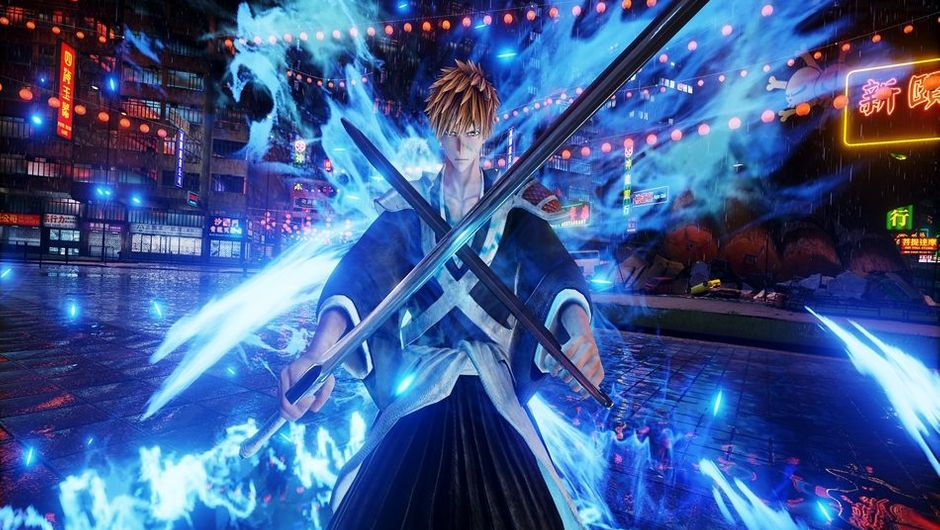 Screenshot of Ichigo from Bleach in Jump Force.