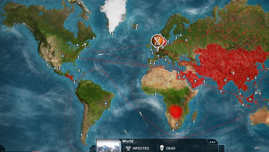Planet Earth from space in the game Plague Inc: Evolved