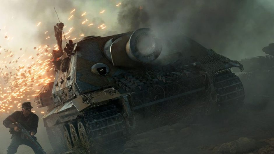 picture showing a ww2 tank