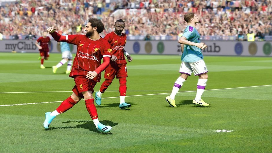 Mohamed Salah in eFootball PES 2020.