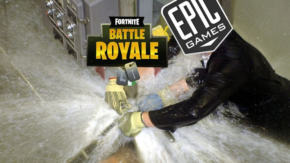 Spoof image that depicts the many leaks from Fortnite Battle Royale.
