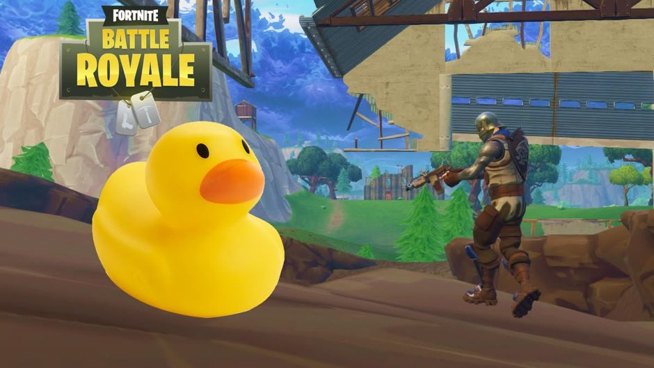Fortnite Battle Royale screenshot with a picture of a rubber duckie