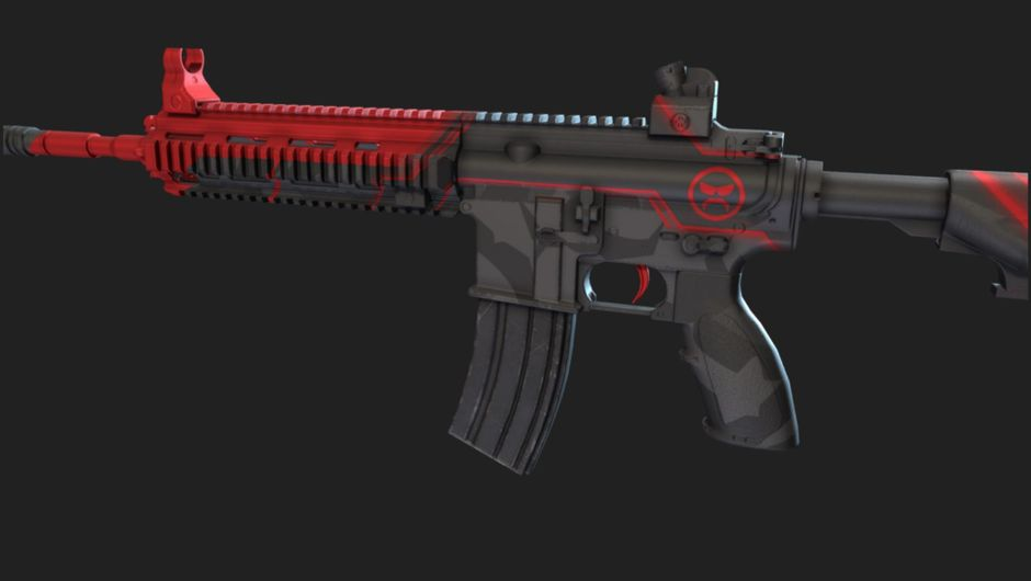Leaked image of M416 Dr DisRespect skin in PUBG