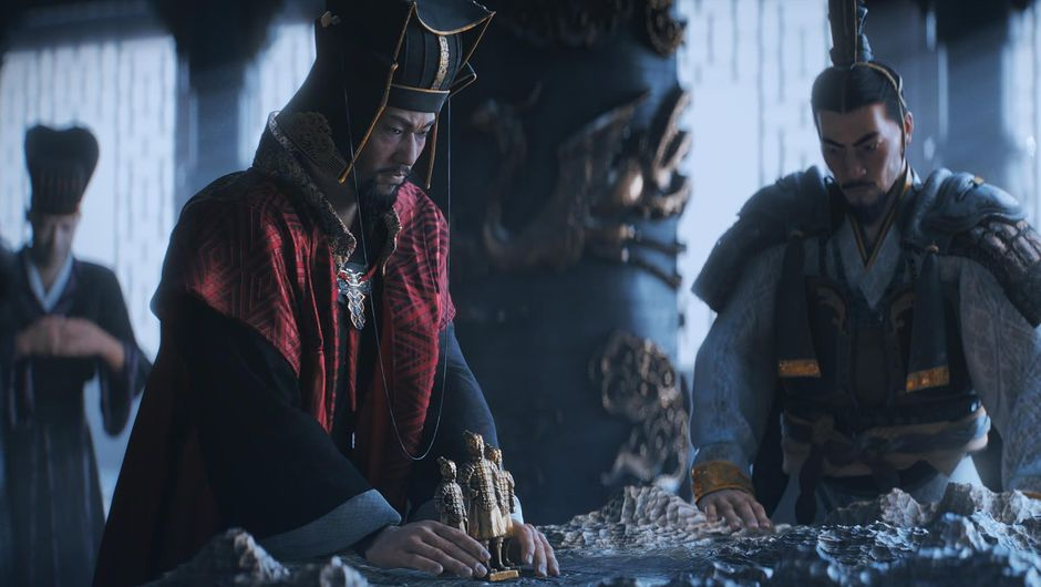 Two men in Chines imperial clothing from Total War: Three Kingdoms