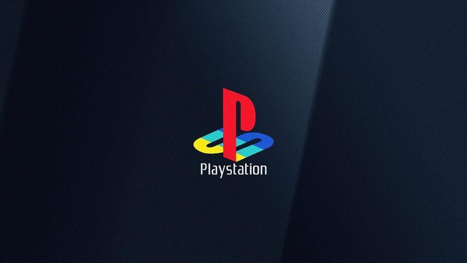 PlayStation logo on a dark blue background.