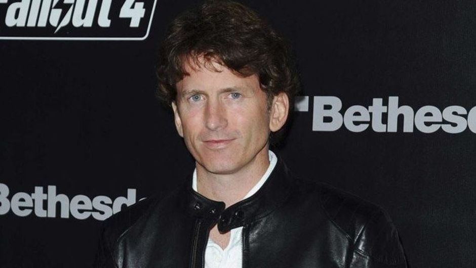 Picture of Todd Howard at some event related to Fallout 4