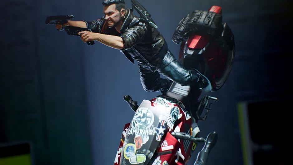 photo showing Cyberpunk 2077 figure