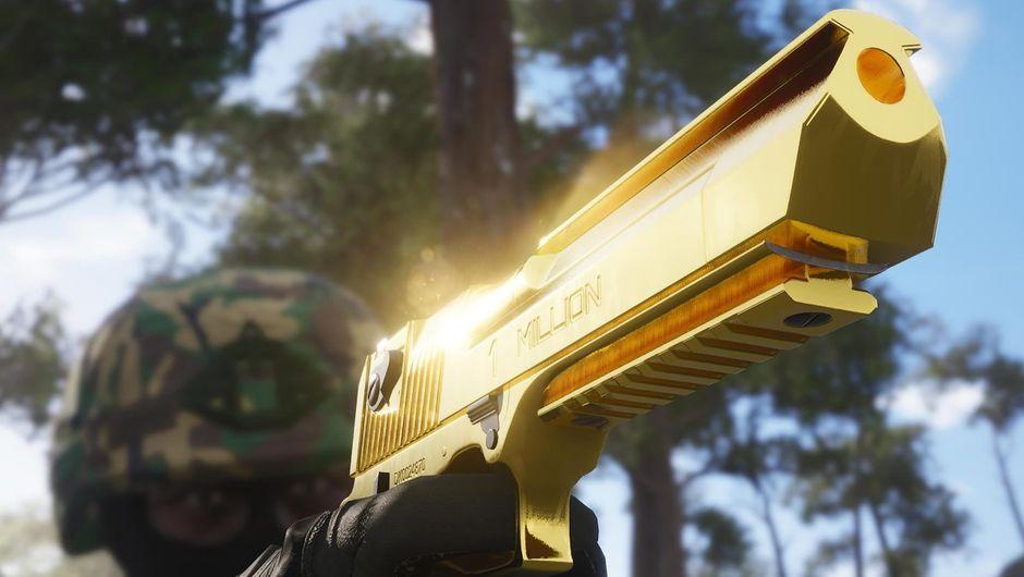 Golden Desert Eagle from Gamepires' survival shooter SCUM