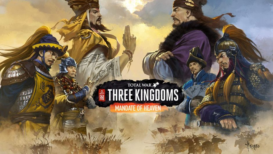 artwork showing factions from total war three kingdoms mandate of heaven dlc