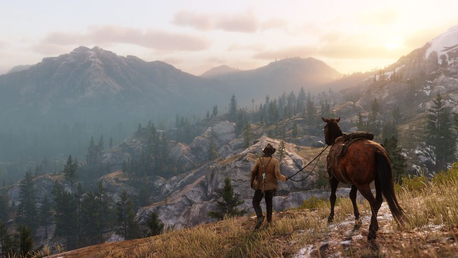 Horseback Western Mountain Cowboy