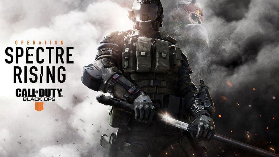 black ops 4 artwork showing spectre specialist in smoke