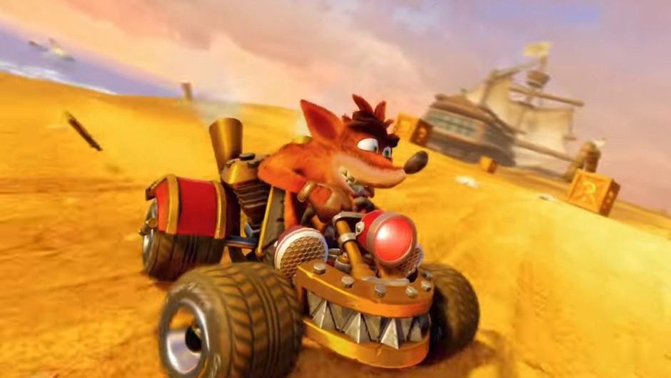 Picture of a different skin for Crash in Crash Team Racing Nitro-Fueled