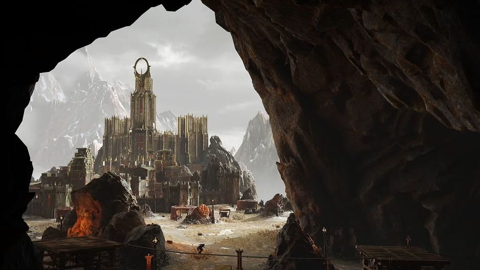 A view of a Middle-earth dwelling from the game Shadow of War