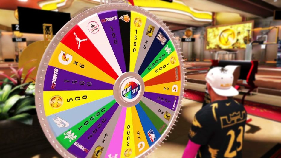 The prize wheel in NBA 2K19