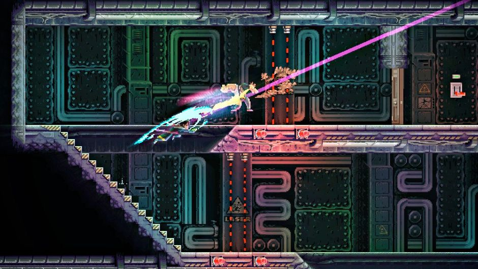 Picture of the protagonist slashing up an enemy in Katana Zero