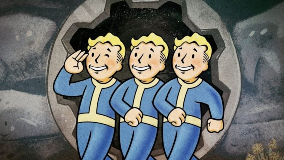 picture showing vault boys from fallout series