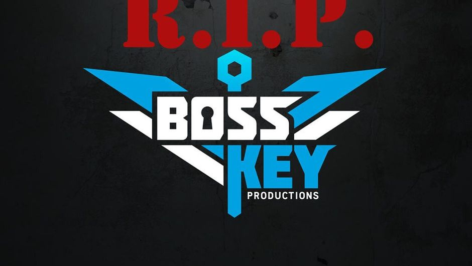 Spoof image of Boss Key Productions logo wishing the company to rest in peace