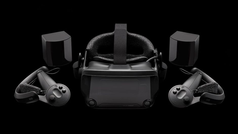 promo image showing valve vr index headset with controllers