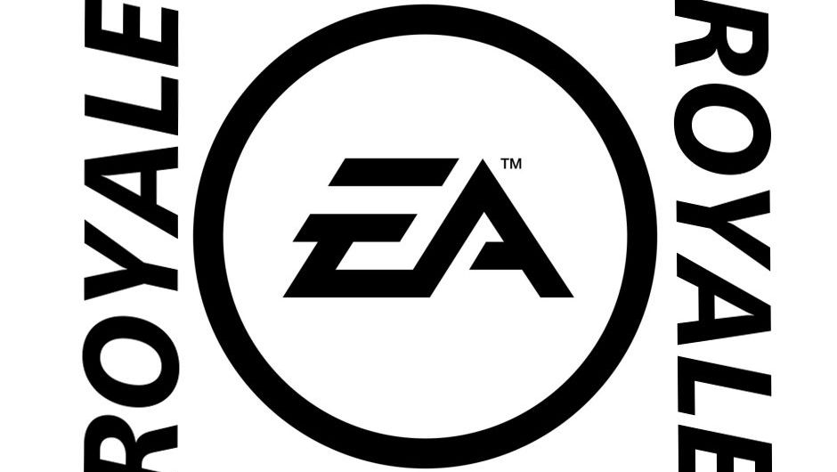 """Spoof image of EA's logo with """"royale"""" written on the sides"""