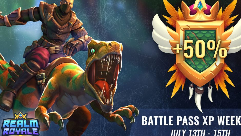 A picture promoting Battle Pass in Realm Royale