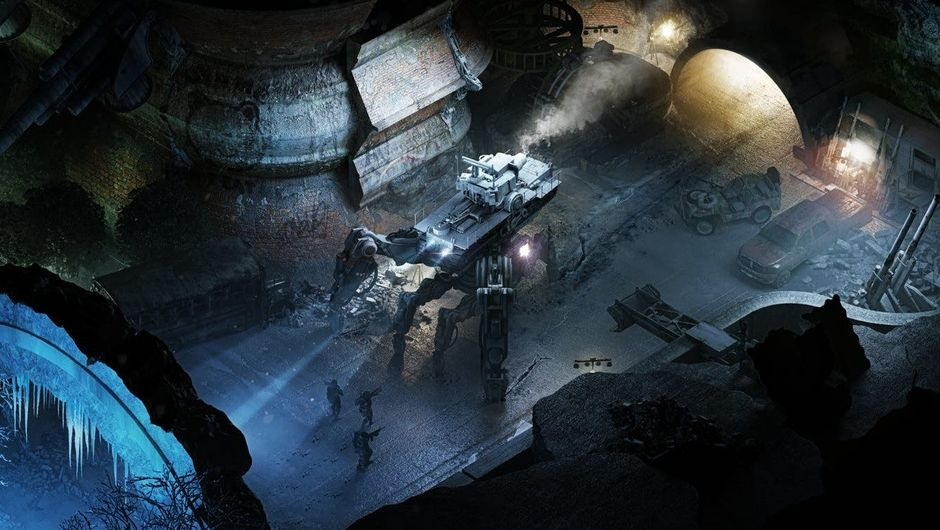 Picture of Desert Rangers about to fight a giant robot in Wasteland 3