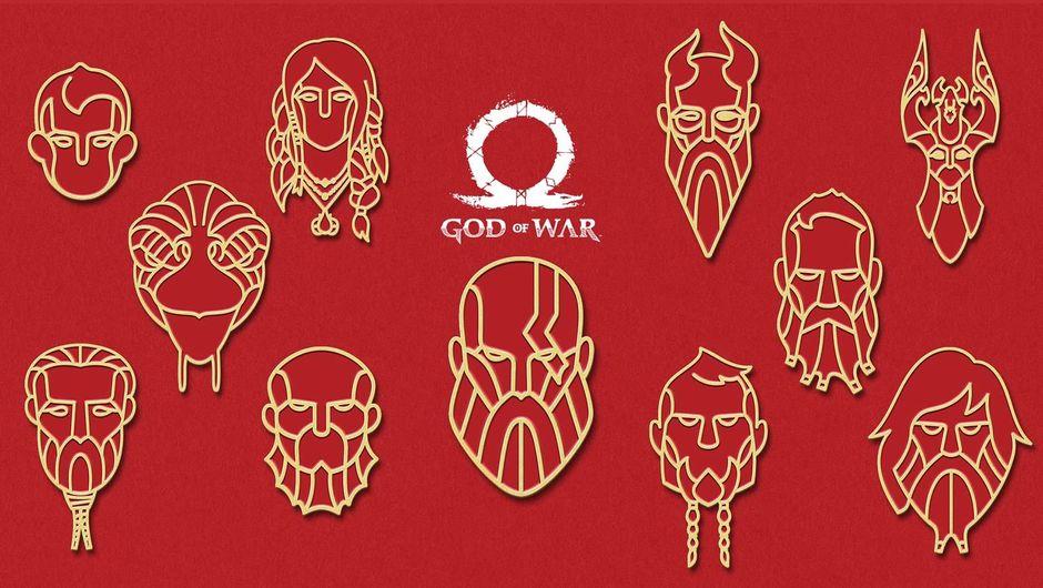 God of War's Anniversary character PS4 avatar set