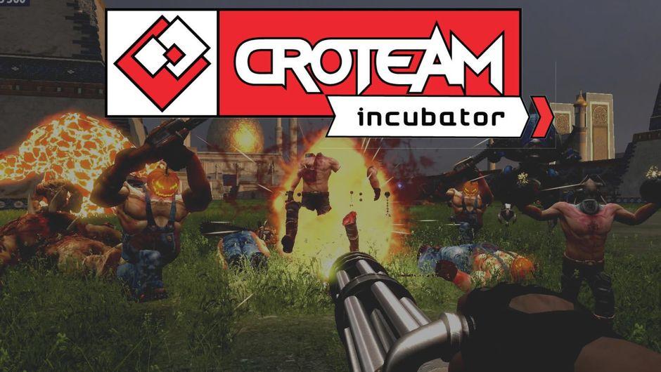 Logo of newly formed umbrella studio Croteam Incubator