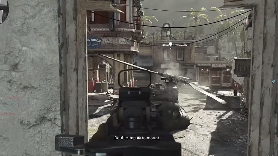screenshot showing crash gameplay in cod mw