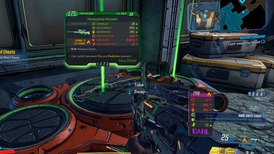 Screenshot taken from leaked Borderlands 3 footage