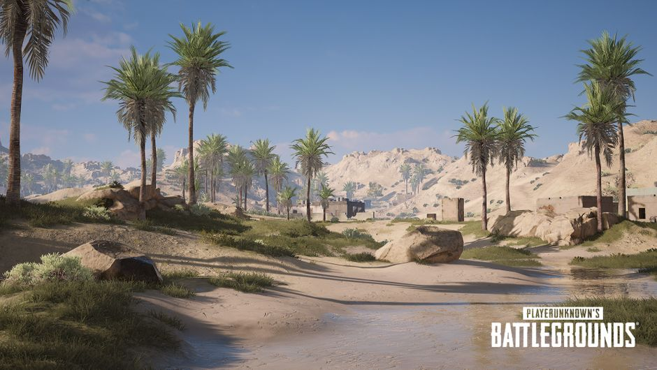 pubg screenshot showing new desert map