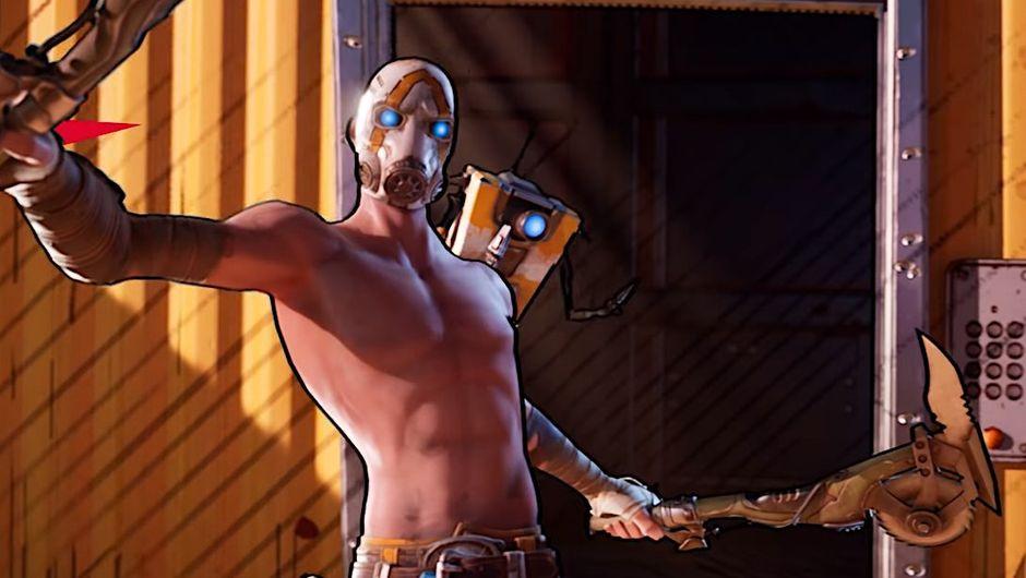 screenshot showing psycho bandit from borderlands 3 in fortnite crossover event