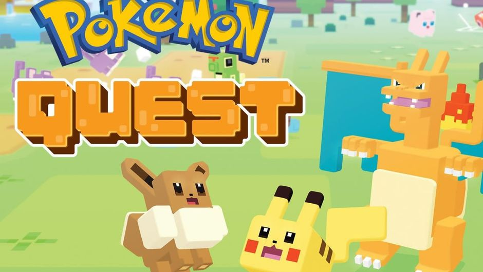 Main title screen from Pokemon Quest for Nintendo's Switch