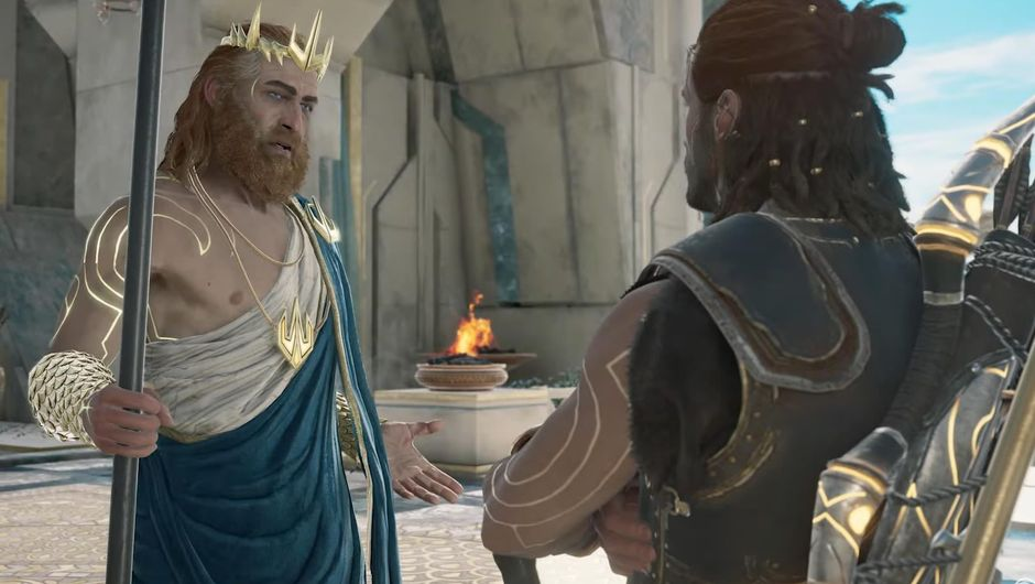 Assassin's Creed: Odyssey, Judgement of Atlantis protagonist and Poseidon