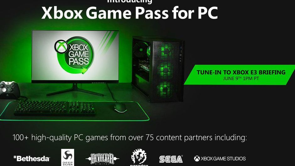 artwork showing high end pc with xbox game pass logo
