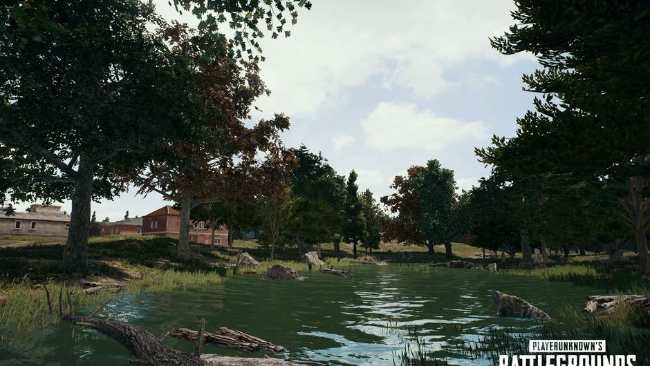 A lake in PlayerUnknown's Battlegrounds