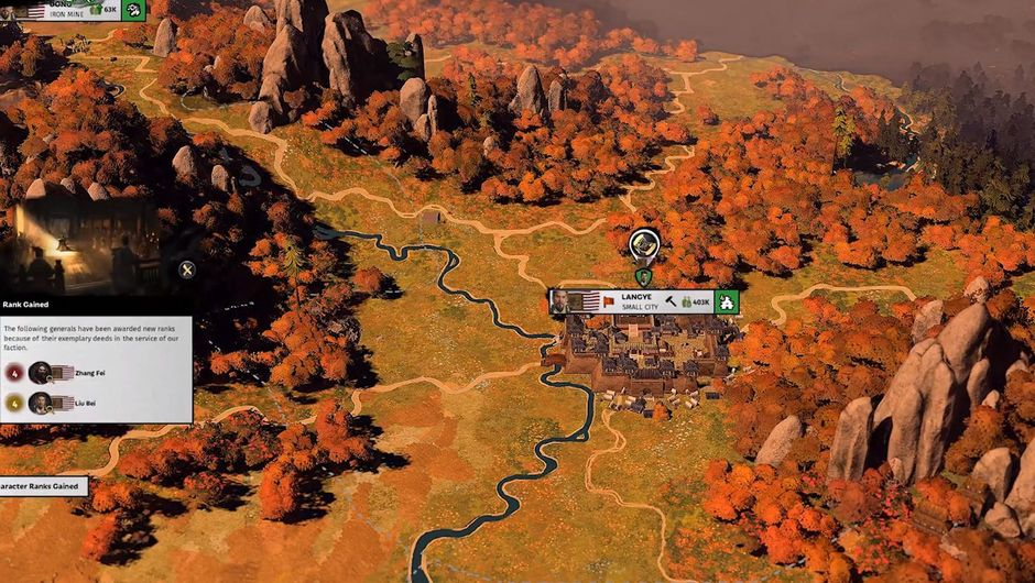 picture showing gameplay from total war