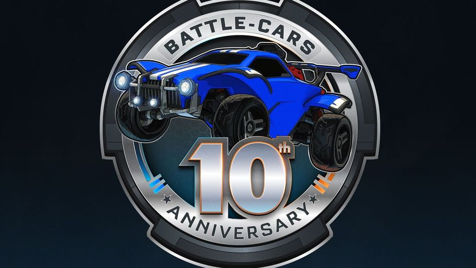 A logo of Battle Cars 10th anniversary