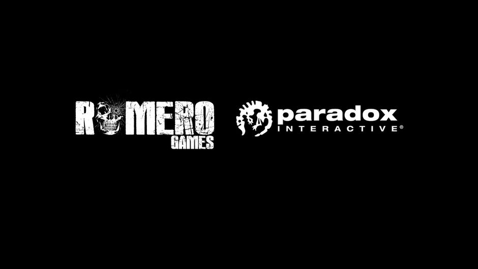 picture showing romero games and paradox logos