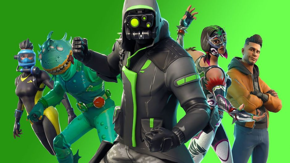 Five character skins from Fortnite: Battle Royale's Season 6