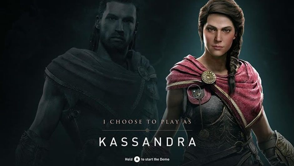 Kassandra, one of two protagonists of Assassin's Creed: Odyssey