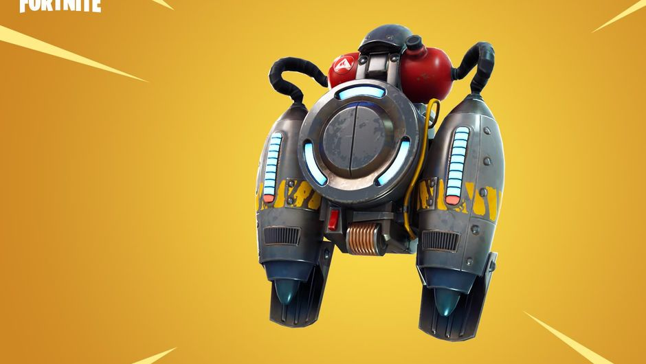 Fortnite's latest backpack item addition, the long awaited Jetpack
