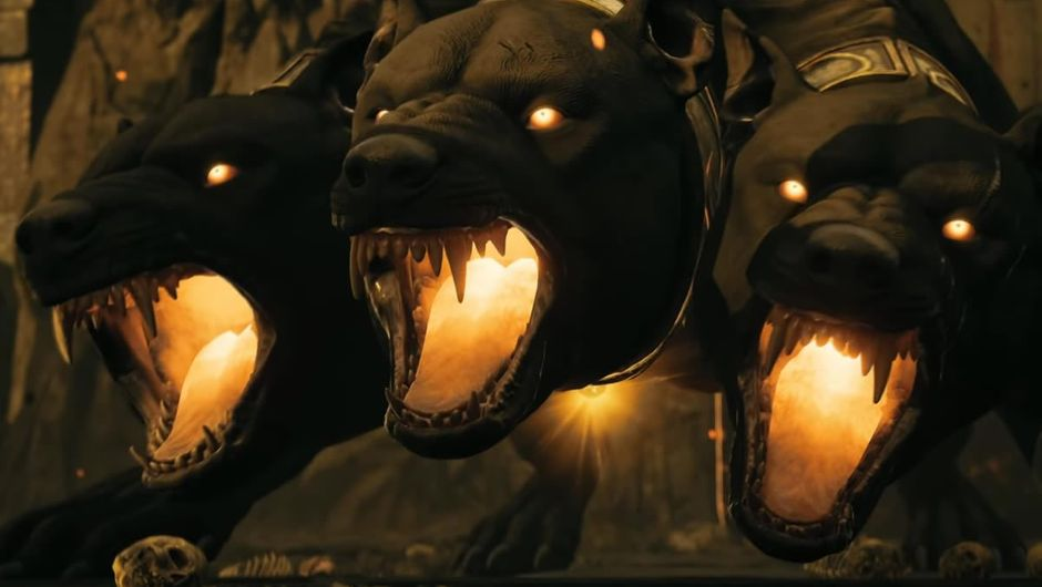 Cerberus, as depicted in Assassin's Creed: Odyssey