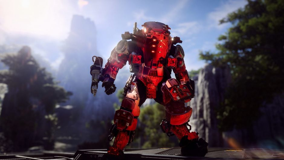 Red skin on Anthem's Javelin Colossus